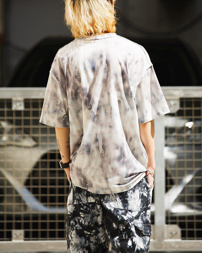 《2色》バタフライメルトクマタイダイTシャツの画像4